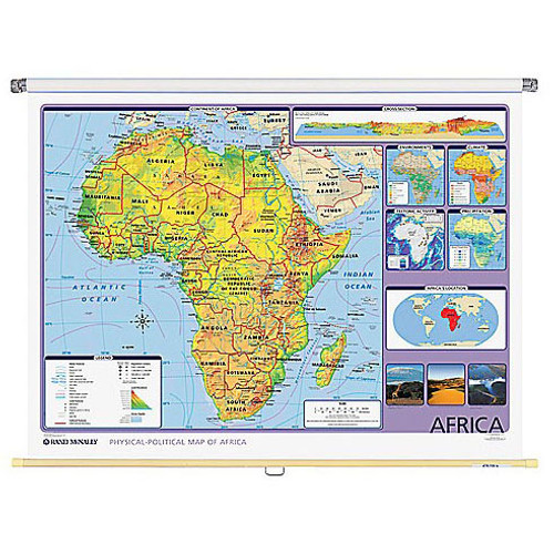 Africa Physical-Political Wall Map
