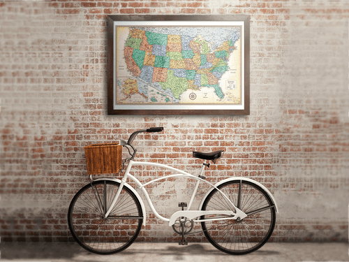 Maps Atlases Wall Maps Rand McNally Store - Framed us map