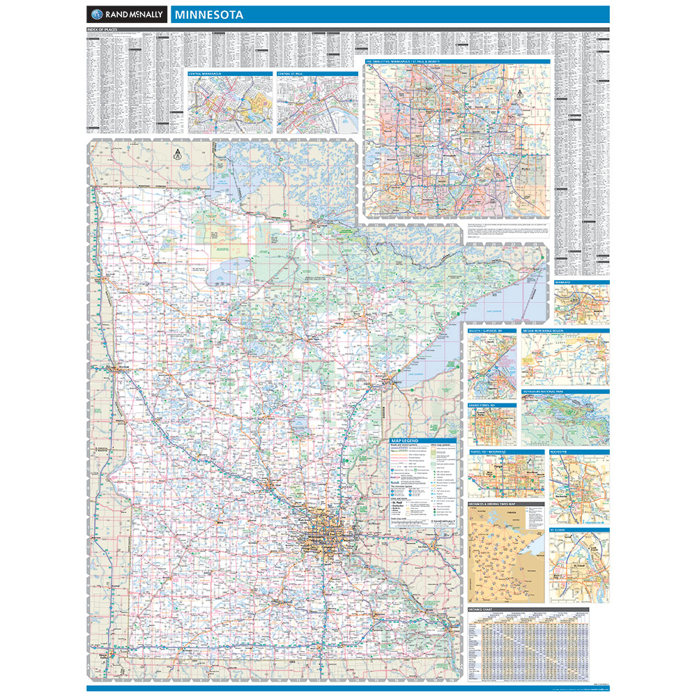 Rand McNally Minnesota State Wall Map - State of minnesota map
