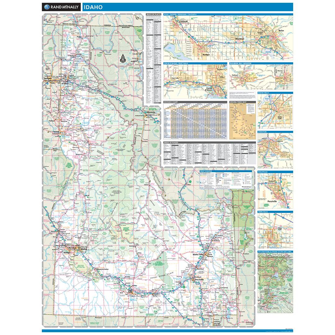 Rand McNally Idaho State Wall Map - State map idaho