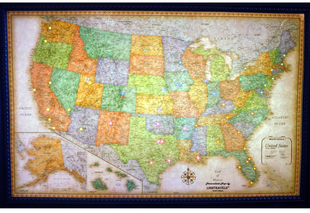 Lightravels Classic Edition Illuminated USA Wall Map - Wall maps
