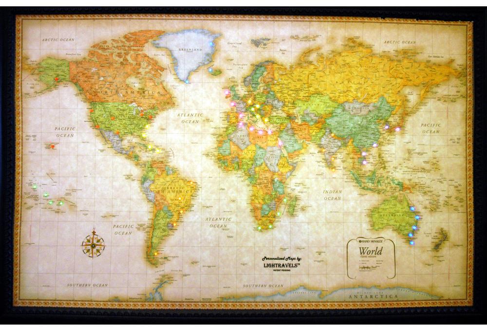 Lightravels Classic Edition Illuminated World Wall Map - Wall maps
