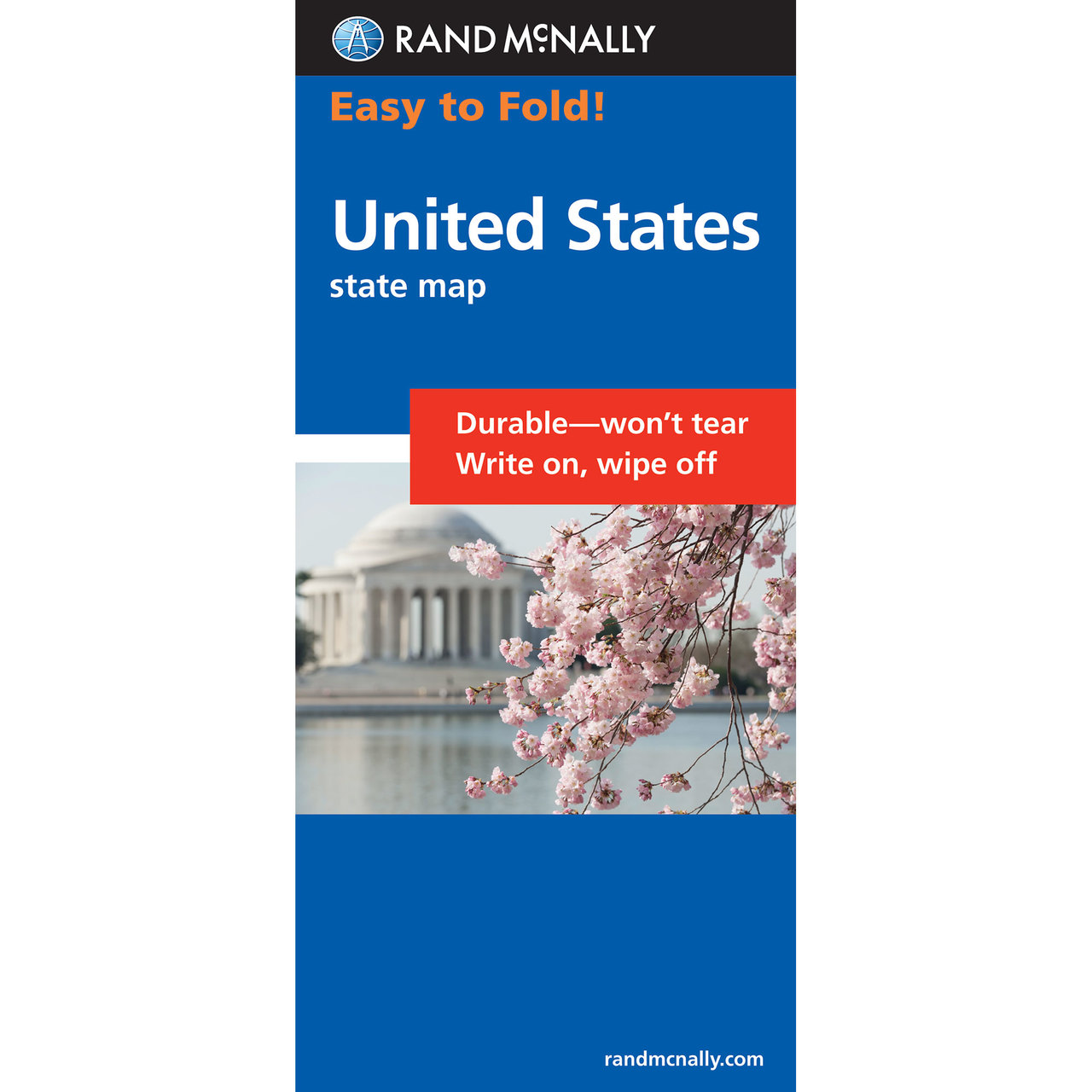 Rand McNally EasyFinder Map United States - Us map fold
