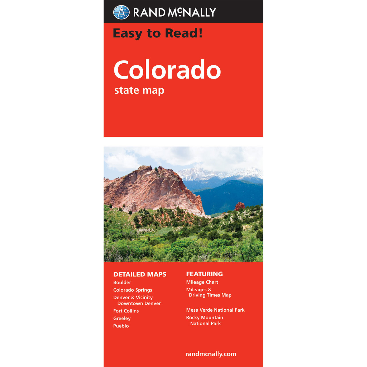Rand McNally Easy To Read State Folded Map Colorado - State of colorado map