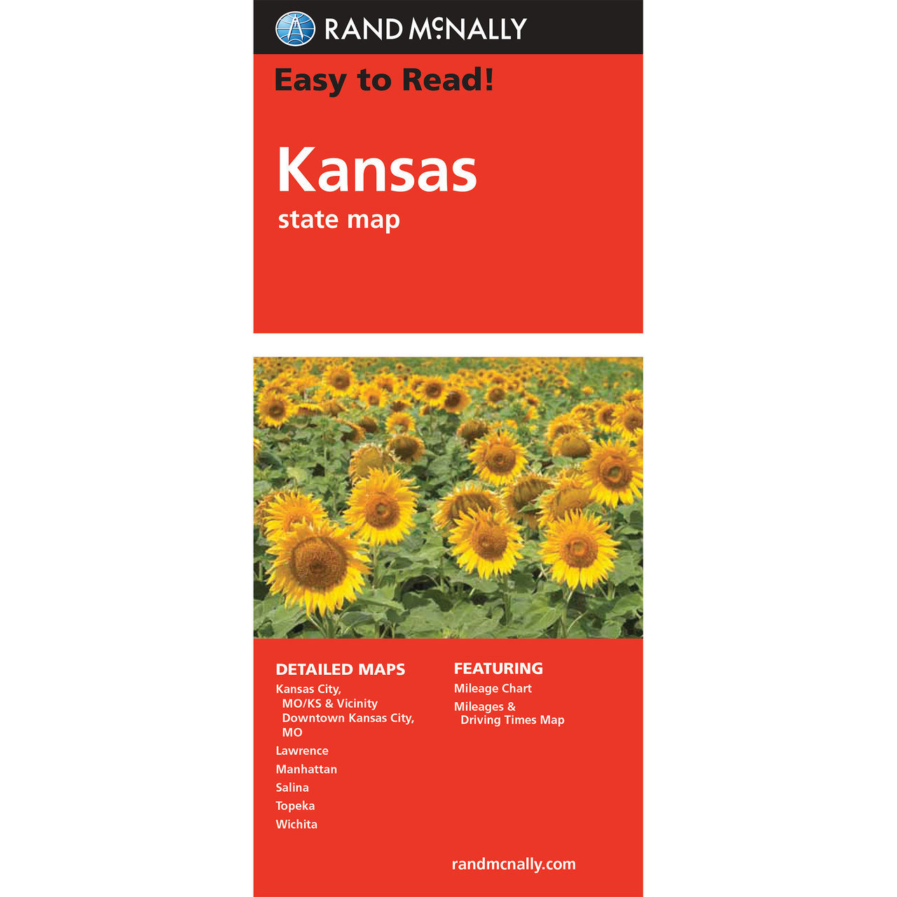 Rand McNally Easy To Read State Folded Map Kansas - Kansas state map