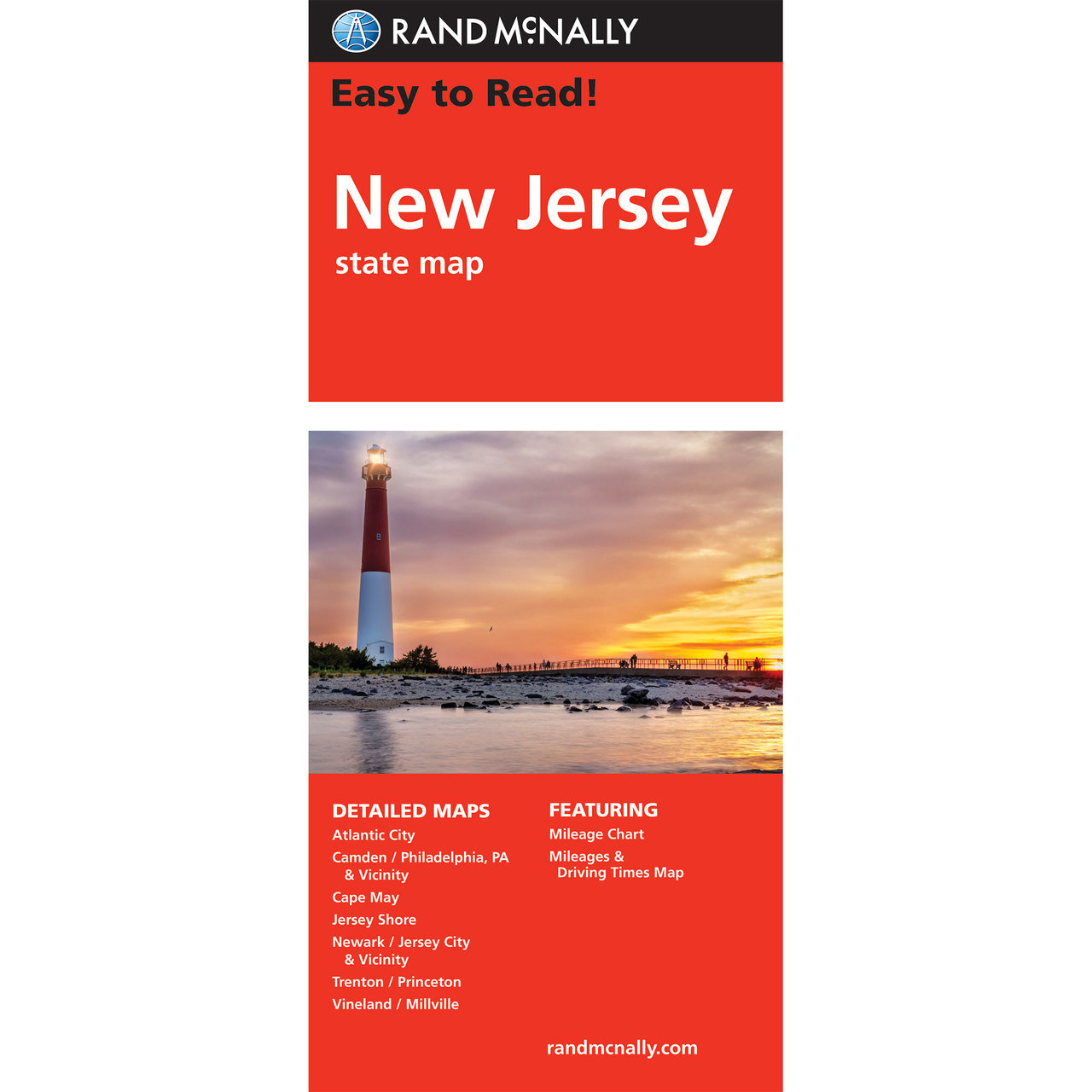 Rand McNally Easy To Read State Folded Map New Jersey - Detailed map of new jersey