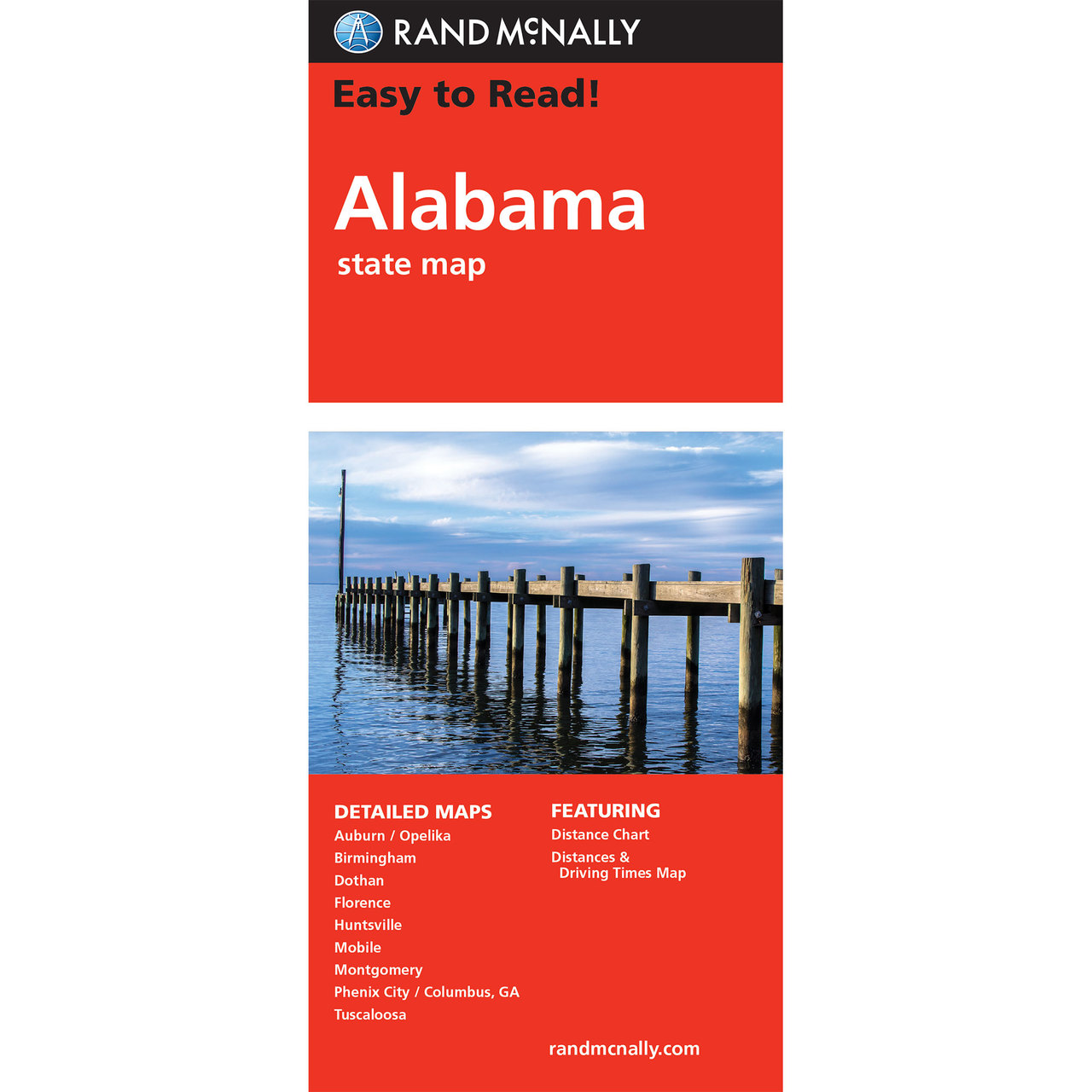 Rand McNally Easy To Read State Folded Map Alabama - Detailed map of alabama