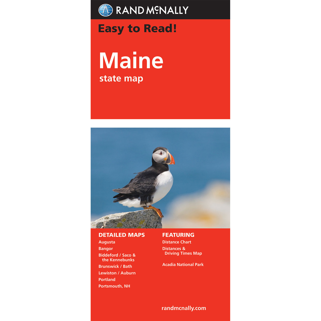 Rand McNally Easy To Read State Folded Map Maine - Main state map