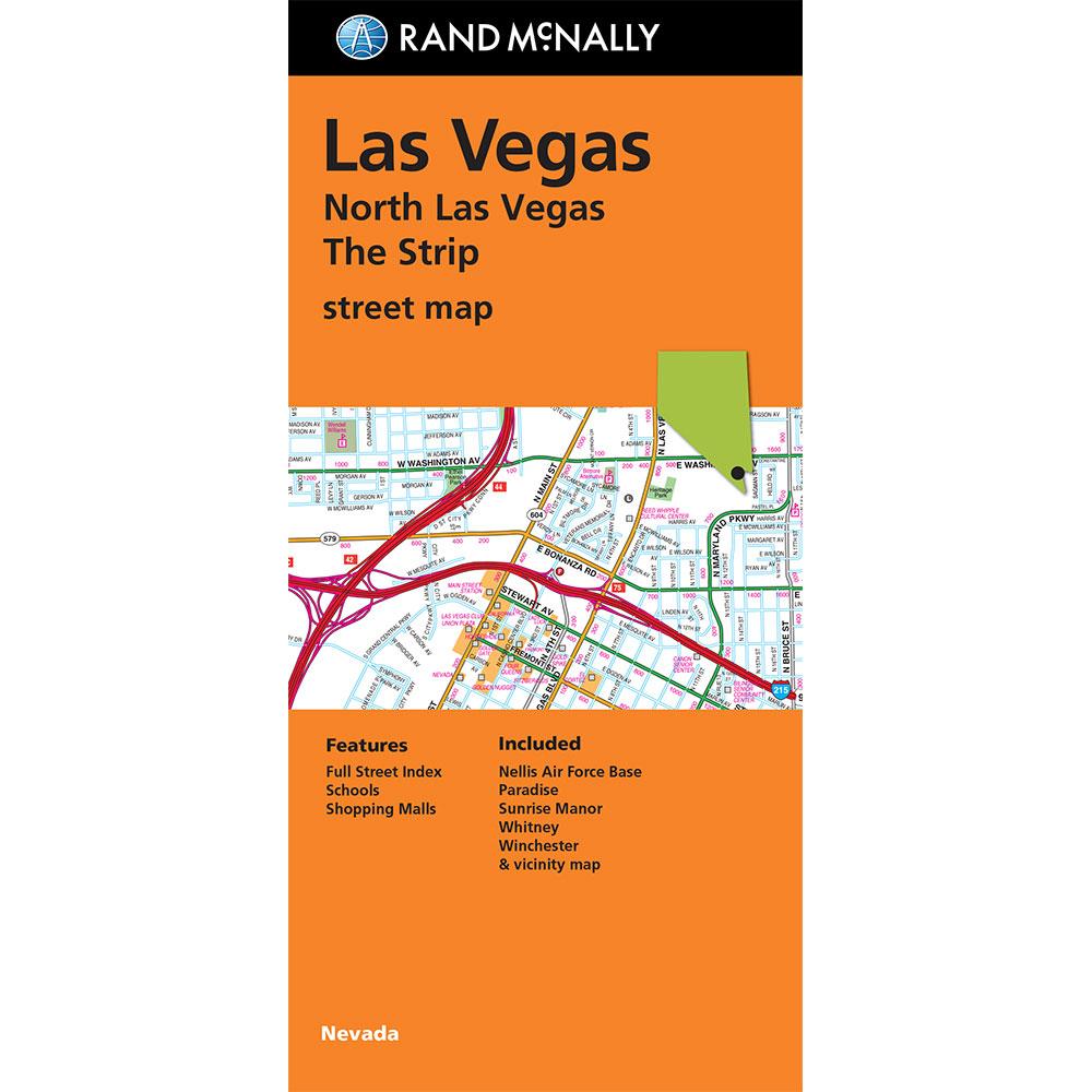 Folded Map Las Vegas The Strip Street Map - Las vegas street map