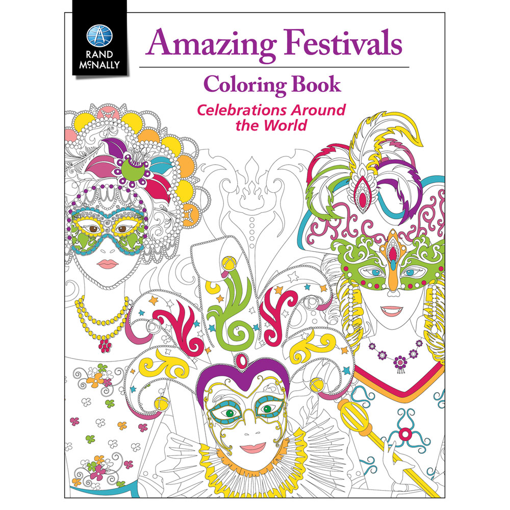 Amazing Festivals Coloring Book Rand McNally Store