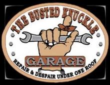 Metal - Tin Sign BUSTED KNUCKLE GARAGE Man Cave Garrage Sign
