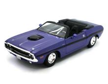 1970 Dodge Challenger R/TConvertible MAISTO Diecast 1:24 Scale Purple