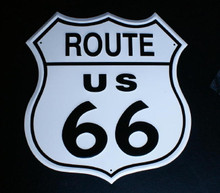 Metal - Tin 3-D Sign Embossed ROUTE 66 SHIELD Man Cave Garage Sign