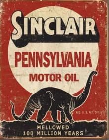 Metal - Tin Sign SINCLAIR MOTOR OIL Garage Man Cave Sign
