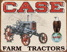Metal - Tin Sign CASE FARM TRACTORS Garage Man Cave Sign