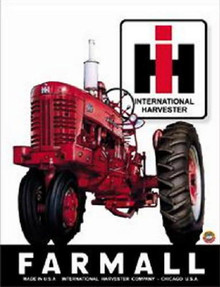 Metal - Tin Sign INTERNATIONAL HARVESTER FARMALL Tracter Sign
