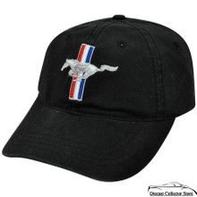 HAT - Ford Mustang Embroiderd Adjustable Ball Cap Hat  Black FREE SHIPPING