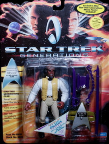 """STAR TREK GENERATIONS WORF 19th Century Outfit Playmates 5"""" Action Figure w/Gear"""