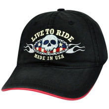 HAT - LIVE TO RIDE Embroiderd Adjustable Ball Cap / Hat