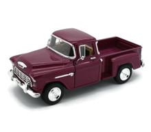 1955 Chevy 3100 Stepside Pickup SUPERIOR / SUNNYSIDE Diecast 1:24 Cranberry