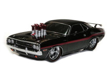 1970 Dodge Challenger M2 Ground Pounders 500 Made Diecast 1:18 Scale Black