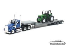 KENWORTH W900 Construction LowBoy Semi Hauler w/Tractor NEWRAY Diecast 1:43 Scale