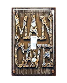 MAN CAVE Metal LIGHT SWITCH COVER / PLATE Garage
