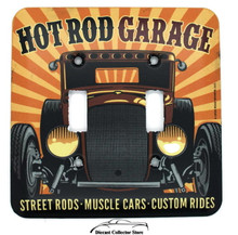 Hot Rod Garage Metal DOUBLE LIGHT SWITCH COVER / PLATE Garage Man Cave