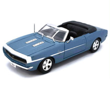1968 Chevrolet Camaro SS 396 Convertible Diecast 1:24 Scale Lt Blue
