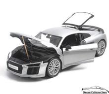 Audi R8 V10 Plus MAISTO SPECIAL EDITION Diecast 1:18 Scale Silver