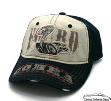 HAT - Ford Cobra Appliqued Logo Adjustable Ball Cap Hat  Blue FREE SHIPPING