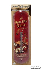 """Thermometer """" Sure Fire Shells"""" 17 1/2"""" x 5"""" Hunting Gun FREE SHIPPING"""