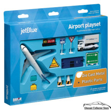 jetBlue Airlines Airport Play Set (12 pcs) Diecast 1:300 Scale FREE SHIPPING
