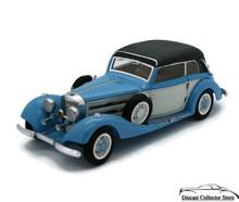 CMC 1936 Mecedes Benz 540 K Cabriolet B Top Up Blue Diecast 1:24 Scale