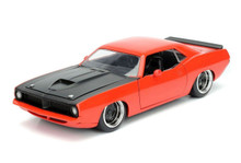1973 Plymouth Barracuda JADA BIGTIME MUSCLE Diecast 1:24 Scale Red 98236
