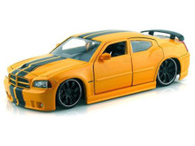 2006 Dodge Charger SRT8 JADA BIGTIME MUSCLE Diecast 1:24 Scale Yellow 96807