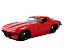 1963 Chevy Corvette Sting Ray Split Window JADA BIGTIME MUSCLE Diecast 1:24 Scale Red 96808