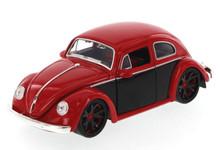 1959 Volkswagon Beetle JADA BIGTIME KUSTOMS Diecast 1:24 Scale Red & Black 91697