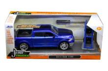 2014 Ram 1500 Pickup w/ Extra Wheels JADA JUST TRUCKS Diecast 1:24 Scale Blue 97691
