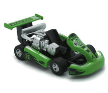 Turbo Go-Kart Racer #26 GOLDEN WHEEL Diecast 3 5/8 inch Model Green