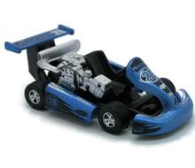 Turbo Go-Kart Racer #26 GOLDEN WHEEL Diecast 3 5/8 inch Model Blue