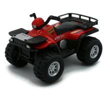 "4x4 Sport Quad Runner Diecast 4 1/4"" Model Red"
