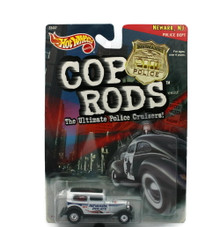 1932 Ford Sedan Hot Wheels COP RODS Newark NJ Police  Diecast 1:64 Scale