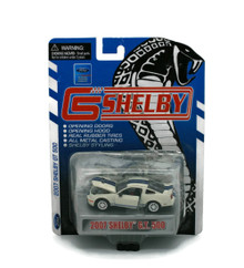 2007 Ford Shelby GT White / Blue SHELBY COLLECTIBLES Diecast 1:64 Scale FREE SHIPPING