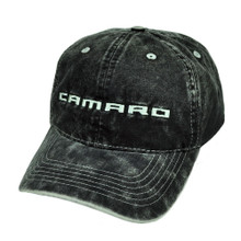 Hat - Chevrolet Camaro Stone Washed Denim Embroidered Ball Cap FREE SHIPPING