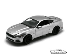 2015 Ford Mustang GT MAISTO SPECIAL EDITION  Diecast 1:18 Scale Chrome Silver