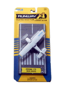 RUNWAY24 Cessna 172 DARON Diecast Plane with Runway FREE SHIPPING
