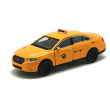 NYC Taxi Ford Interceptor DARON Diecast Pullback 1:38 Scale FREE SHIPPING