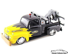 1948 Ford F1 Wrecker 1:25 MAISTO CUSTOM SHOP Diecast - Metalic Black & Yellow