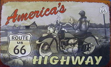 Metal - Tin Sign AMERICA'S HIGHWAY - ROUTE 66